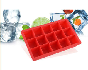 Silicone Kitchenware FDA 15cells Frozen Ice Maker Square Silicone Ice Mold pictures & photos