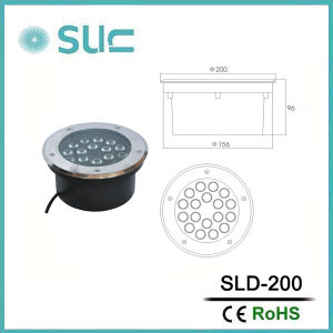 Latest 18W 24V Stainless Steel LED Buried Light (SLD-200) pictures & photos