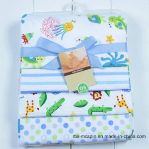 100% Cotton Fannel Baby Receiving Blanket Sleeping Cover Swaddle Blanket pictures & photos