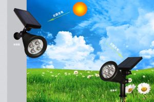 Solar Powered LED Rechargeable LED Garden Spotlight pictures & photos