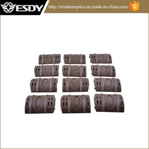 """Esdy Black 2"""" Rubber Rail Cover 12pack Picatinny Rail Covers pictures & photos"""