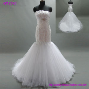 W18370 China Custom Made Low Price Wedding Dress pictures & photos
