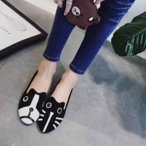 2017 Summer Personalized Animal Pattern Suede Tide Women′s Single Shoes pictures & photos