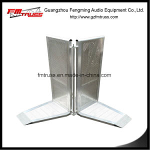 Aluminum Alloy Material Crowd Barrier with Black Power Coated Surface pictures & photos