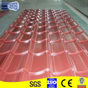 Orange Color Prepainted Galvanized Steel Glazed Tiles pictures & photos