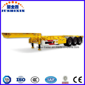 3 Axles Skeletal Container Carry Trailer with Goose Neck pictures & photos