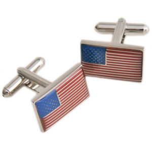 Customized Flag Shape Round Business Gift Cuff Link pictures & photos