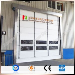 European Standard Ability to Withstand Forklift High Speed Dustproof Rapid Rolling Customized Door (Hz-FC0421) pictures & photos