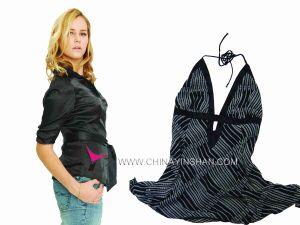 Ladies′ Black Polyester Blouse - 5