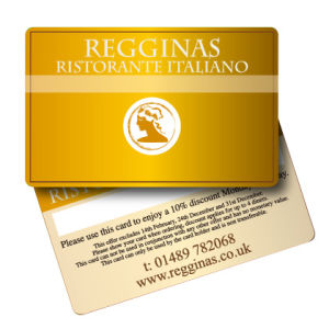 Golden Background PVC Membership Card with Screen Printing