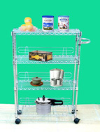 4 Tiers Multifunction Adjustable Utility Kitchen or Hospital Trolley (CJ-B1069) pictures & photos