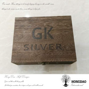 Hongdao Custom Design Wooden Passport Storage Box with Liner Wholesale_D pictures & photos