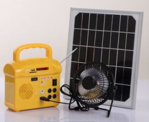 Solar Home LED Lighting Power System with FM Radio USB Charger Remote Control SD Card Player pictures & photos