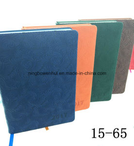 PU Leather Diary Notebook with Magnetic Flap pictures & photos