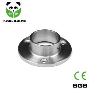 Round Pipe Staircase Fitting / Stainless Steel Handrail Post Base Plate pictures & photos