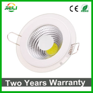 Hot Sale Round Aluminum with Glass 5W/12W/18W COB LED Panel Light pictures & photos
