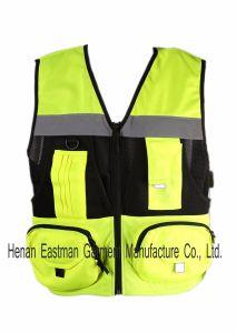 Multi Pockets Hi-Vis Geo Fishing Vest pictures & photos