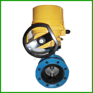 Electric Rubber Seal Double Flange Butterfly Valve pictures & photos