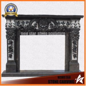Stone Fireplace Mantel Granite Fireplace pictures & photos