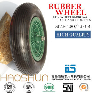 Pneumatic Wheelbarrow Barrow Rubber Wheel Tire 4.80/4.00-8 pictures & photos