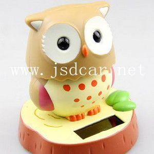 Solar Car Cartoon Owl Ornaments (JSD-P0058) pictures & photos