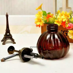 Colored Glass Bottle with Shower, 250ml Round Glass Water Flowers Bottle pictures & photos