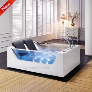 Square White Acrylic Water Massage Soaking Bathtub for Adults (SF5B003) pictures & photos