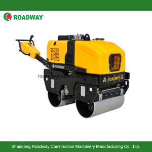 Fully Hydraulic Walk Behind Double Drums Vibratory Road Roller pictures & photos