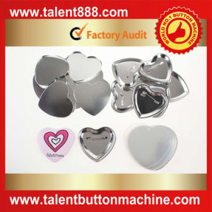 Talent Button Heart 53X57.5mm Pin Button pictures & photos