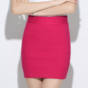 Wholesale Simple Pure Color Skirts Female Split Package Hip Skirt pictures & photos