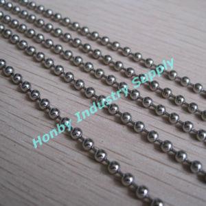 3.2mm Nickel Plated Key Hanging Beaded Metal Ball Chain