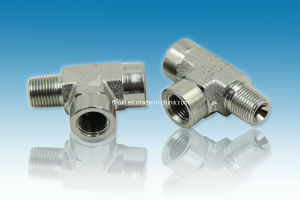 Hydraulic Hose Fitting Carbon Steel Equal Tee
