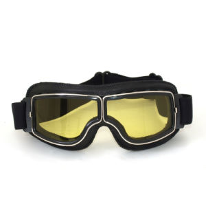 ABS Frame Anti Fog PC Lens Motocross Eyewear Harley Goggles pictures & photos