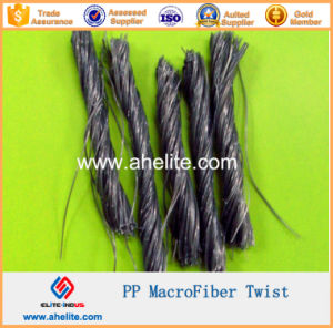 Macrofiber Polypropylene Twist Fiber 19mm 48mm 54mm pictures & photos