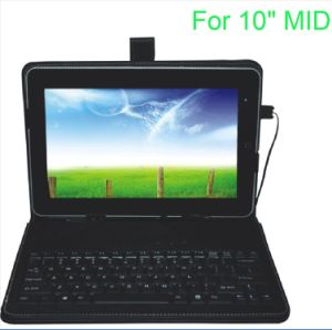 10&quot; Tablet PC Leather Case Keyboard- (KL-PK004)