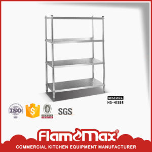 Stainless Steel 4-Tier Storage Shelf (HS-415B) pictures & photos