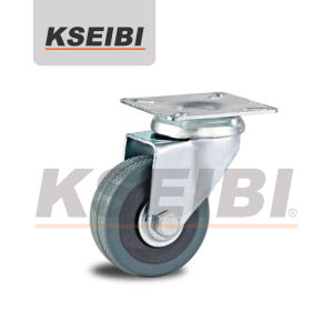 Hot Sale Kseibi Swivel Plate Gray Rubber Caster pictures & photos