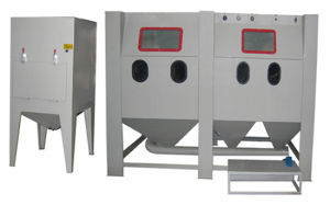 Double Working Postion Sandblast Cabinet pictures & photos