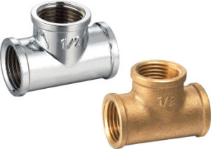 Brass Fitting Tee with Zinc Plated (328004) pictures & photos