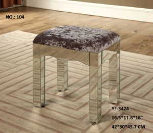 2017 New Grey Color Fabric Stool pictures & photos