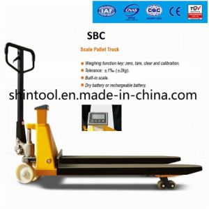 CE Hand Pallet Truck with Scale Sbc 2 Ton CE Hand Pallet Truck pictures & photos