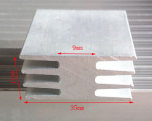 35mm Width Aluminum Profile Heat Sink 35mm*17mm*100mm Length Can Custom-Made pictures & photos