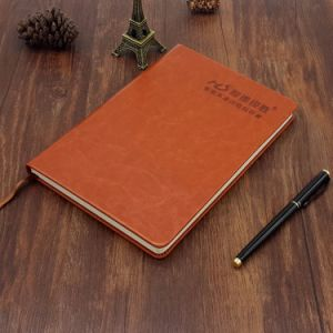 Leather Cover Notebook with Deboss Logo pictures & photos