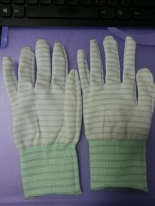 ESD Carbon Strip Glove pictures & photos