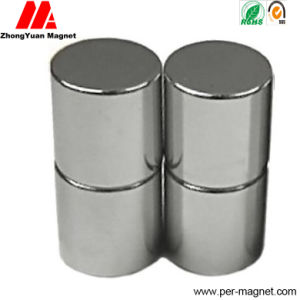 Sintered Ni Plated N52 Permanent Cylinder NdFeB Neodymium Magnet pictures & photos