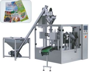 Rotary Pre-Made Pouch Packaging Machine for Power pictures & photos