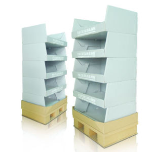 Cardboard Stand Display Rack, Floor Display Shelf pictures & photos