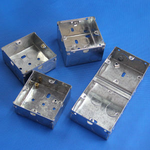 3*6 Two Gang Double Electrical Metalic Switch Boxes pictures & photos