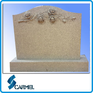 European Style and Memorial Usage Carved Rose Granite Tombstone
