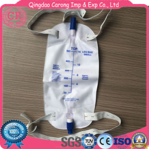 2000ml T-Valve Pull-Push Valve Disposable Leg Urine Bag with Outlet pictures & photos